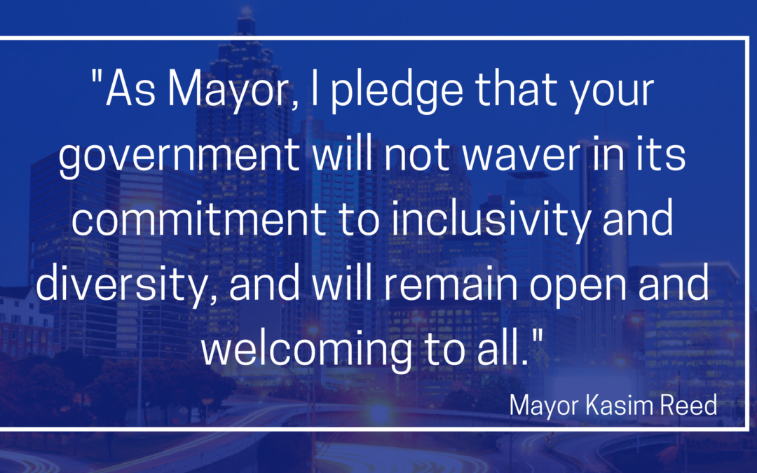 Mayor Kasim Reed Statement on the City of Atlanta's Leading Role as a Welcoming City
